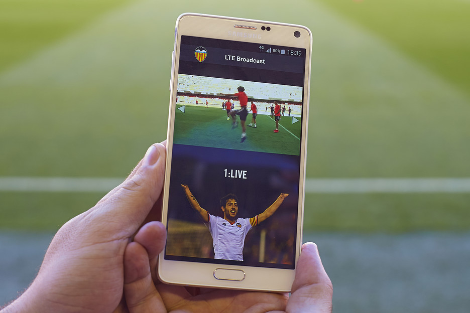 Ibertel participa en el despliegue del innovador servicio LTE Broadcast de Vodafone en Mestalla